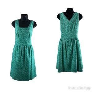 The Limited Dress Green And White Size 10